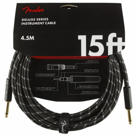Fender Deluxe Black Tweed 4.5m Instrument Cable