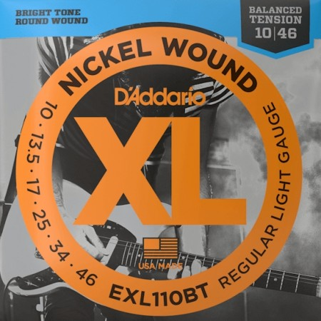 D'Addario EXL110BT Balanced Tension Elgitar (010-046)
