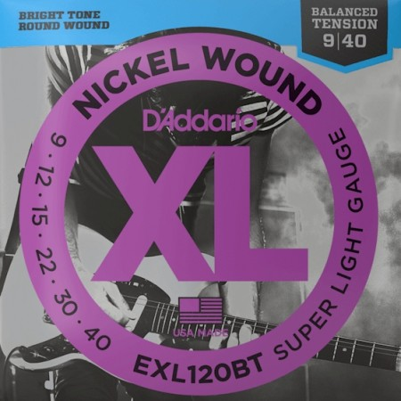 D'Addario EXL120BT Balanced Tension Elgitar (009-040)