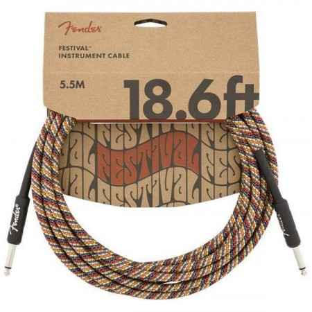 Fender Festival Rainbow 5.5m Instrument Cable