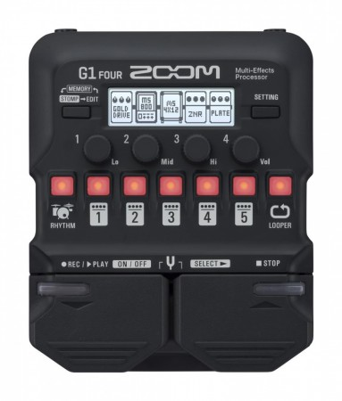 Zoom G1-FOUR Guitar Multi-Effect Processor